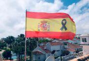 Bandiera di Bandera España Crespón Negro